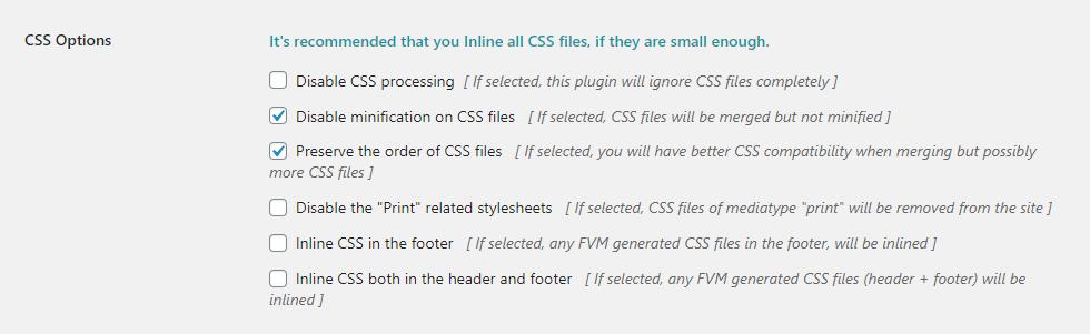 FVM Konfiguration - Teil 7 - CSS Optionen