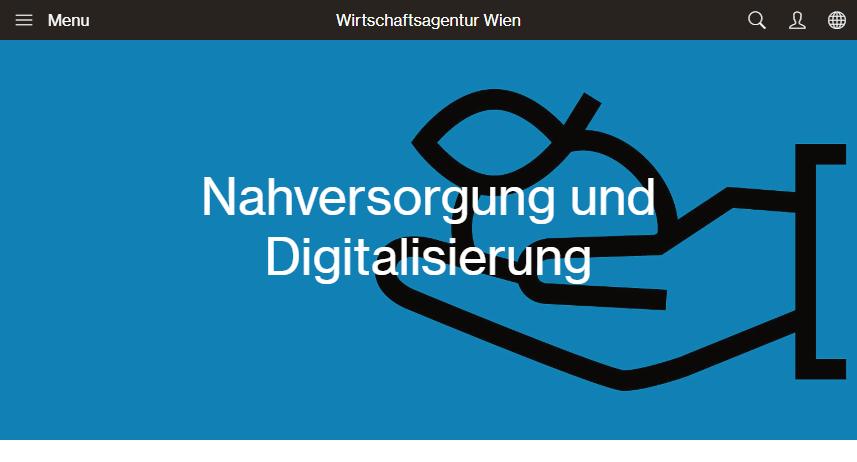 Website: Wirtschaftsagentur - Foerderungen Nahversorgung und Digitalisierung