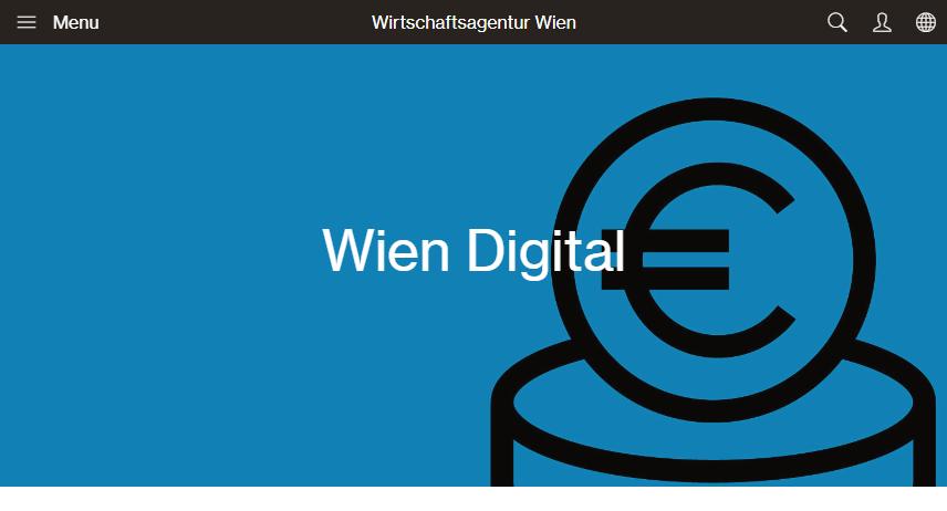 Website: Wirtschaftsagentur - Foerderungen Wien Digital