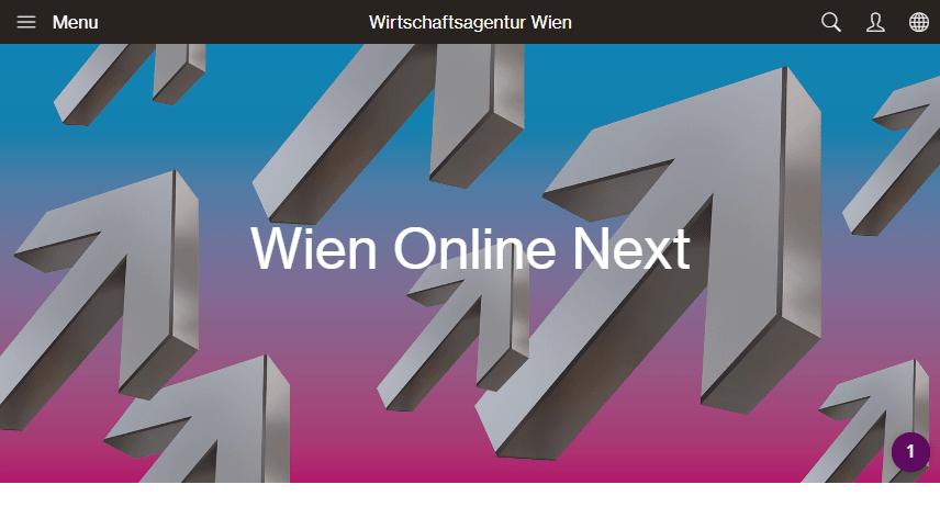 Website: Wirtschaftsagentur - Foerderungen Wien Online next